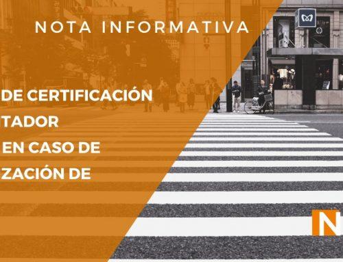Nota Informativa: Emisión de Certificación por Contador Público en caso de capitalización de pasivos