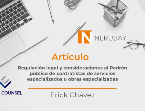 Regulación legal y consideraciones al Padrón público de contratistas de servicios especializados u obras especializadas.